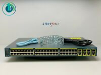 Cisco WS-C2960G-48TC-L • 48 Port Gigabit Switch ■1YR WARRANTY • SAMEDAYSHIPPING■