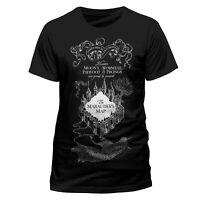 Official Harry Potter T Shirt Marauders Map Black Unisex Small