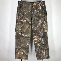 New Realtree Womens Large Cargo Pants Camo Camouflage Xtra Hunting Farm Work L
