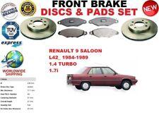 Per Renault 9 L42_Saloon 1.4 1.7 84-89 Set Dischi Freno Anteriori + Pastiglie