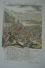 Zürich Neujahrsblätter Schlacht bei Sempach, Kupferstich 1678 Conrad Meyer