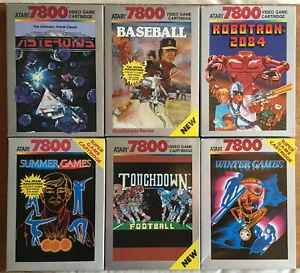 Atari 7800 silver box NTSC exclusives by Atari