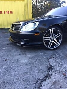 MERCEDES AMG S-Class W220 Blk Front Lip Spoiler Painted S500 S55 S430 S65