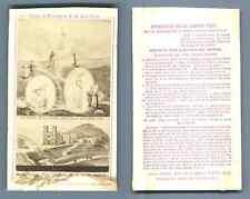 Ars et Vaux, France, Lourdes Vue CDV vintage albumen carte de visite,  Tirage