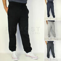 Mens Fleece Elasticated Jogging Bottoms Track Pants Casual Joggers Trousers