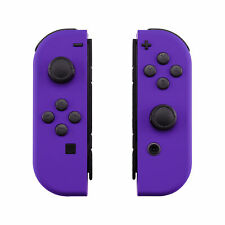 Soft Touch Purple Controller Housing Shell Buttons for Nintendo Switch Joy-Con