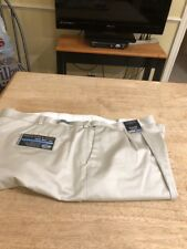 Men's Big And Tall Roundtree And Yorke Pleated Light Beige Casual Pant 52/32 NWT