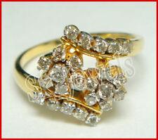 Gold Engagement Wedding Anniversary Ring 0.75ctw Round Diamond 14K Yellow