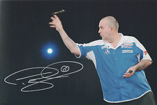 PHIL TAYLOR Signed In Person 12x8 Photo DARTS WORLD CHAMPION COA