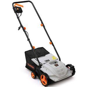 VonHaus 1500W 2 in 1 Electric Garden Lawn Raker/Scarifier & Aerator 320mm