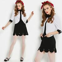Vintage 1960s 60s MOD Tulip Hem Mini Dress rave cosplay lolita retro