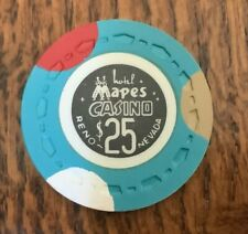 Mapes Hotel, Reno $25 Casino Chip MINT condition Rarity