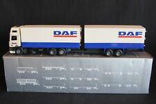"""Tekno DAF 95 Topsleeper truck with trailer """"DAF"""" 1:50 #03-6825 (J&KvW)"""