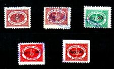 5 OLD RRR REVENUE STAMPS, Care Fund of the Panhellenic Music Association, Nο: 81