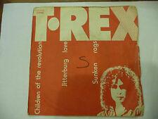 "T.REX""CHILDREN OF THE REVOLUTION-disco 45 giri(triplo) EMI Italy 1972 GLAM ROCK"""
