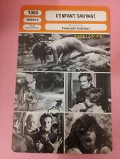 François Truffaut L'enfant Sauvage The Wild Child French Film Trade Card