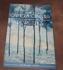 """Camera Obscura Desire Lines NEW promo poster 11"""" x 17"""""""