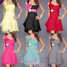 ♥ 6 Farben Größe 34-46 Abendkleid Cocktailkleid Ballkleid, seidiger Chiffon ♥