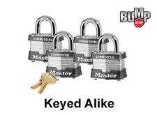 Master Lock Padlock - (4) Keyed Alike Locks #3NKA-4 w/ BumpStop Technology