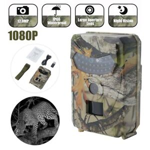12MP Hunting Trail Camera HD 1080P Wildlife Scouting Cam Motion Night Vision