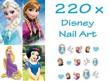 220 x DISNEY FROZEN Elsa Anna Rapunzel Nail Art Stickers Water Transfers