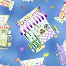 Storefront Shop Hop Toss Fabric Pet Sewing Flower Toy Party Town Stores