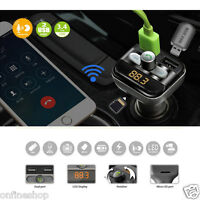 2017 Bluetooth Car Kit Wireless FM Transmitter Dual USB Charger Audio MP3 Player