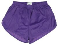 Soffe Purple Nylon Ranger Panties / Silkies / Running / Track Shorts Men's Large