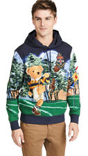 Polo Ralph Lauren Limited Edition Football Rugby Kicker Bear Hoodie Sweater New
