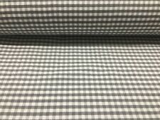 French Petite Collins Gingham Check Grey Curtain/Craft / upholstery Fabric
