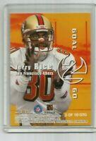 RANDY MOSS/ JERRY RICE 1999 SKYBOX DOMINION GOAL 2 GO INSERT CARD #3GTG