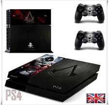 PS4 assassin creed skin decal wrap autocollant playstation console effet cuir