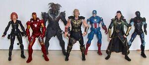 "Set of 7 3.75"" Marvel action figures inc. Thor, Loki, Black Widow & Kurse"