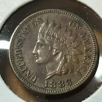 1883 UNITED STATES INDIAN CENT HIGH GRADE COIN