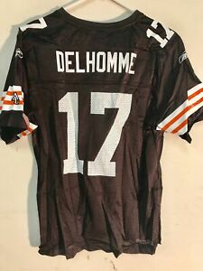REEBOK NFL JERSEY CLEVELAND BROWNS JAKE DELHOMME BROWN WOMEN'S SIZE M