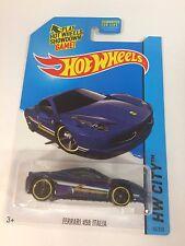 2014 Hot Wheels HW City Blue Ferrari 458 Italia (T11)