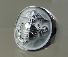 US Marine Corps USMC official license USA made ring .925 sterling size 10.5 new