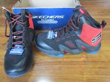 NEW SKECHERS RAPID TRAIN Basketball Shoes BOYS 13 Black Red 97480L/BKRD $60.