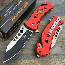 Tac Force Assisted Open Fire Fighter Department Emergency Rescue Knife