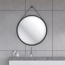 Home Design 60cm WET Hanging Round Mirror with Black Strap