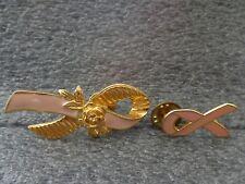 Avon Breast Cancer Awareness Survivor Pin Pink Enamel Tac Lapel Rose Goldtone