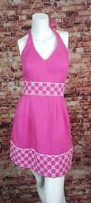 Vineyard Vines for  Kentucky Derby Collection Pink Halter  Dress 0