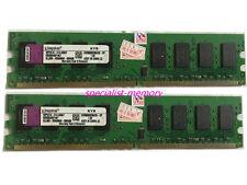 Kingston 4GB 2X2GB PC2-6400 PC6400 800MHZ 240Pin Desktop Memory Ram Low Density