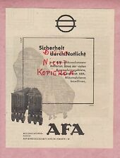BERLIN-HAGEN, Werbung 1942, AFA Accumulatoren-Fabrik AG Batterien Licht