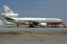 "American Airlines Douglas DC-10-10 N909WA in June 1988 8""x12"" Color Print"