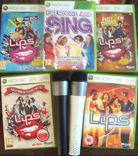 Lips Party Classics 80s Everyone Sing Games Xbox 360 bundle Wireless Microphone
