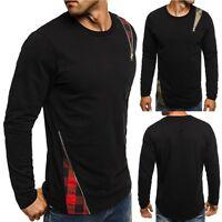 Fashion Men Casual Long Sleeve Shirts Slim Fit Shirt Tops Blouse T-Shirt Tee Lot