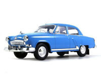 GAZ-21 Volga (Second Series) Blue Soviet Sedan 1959 Year 1/24 Scale Model Car