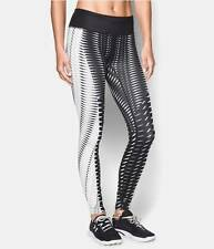NWT $125 Under Armour UA FlyBy Engineered Running Leggings SizeL White Black Fit