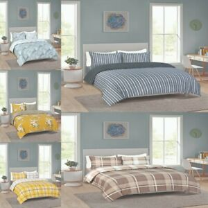 4 Pcs Complete Bedding Set  With Fitted Bed Sheet Duvet Cover Single Double King